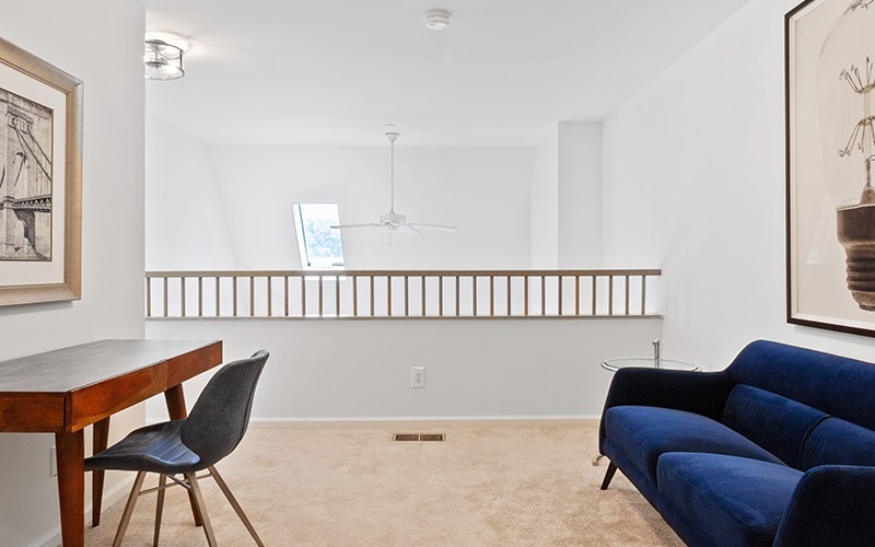 Large upstairs office space with ample light